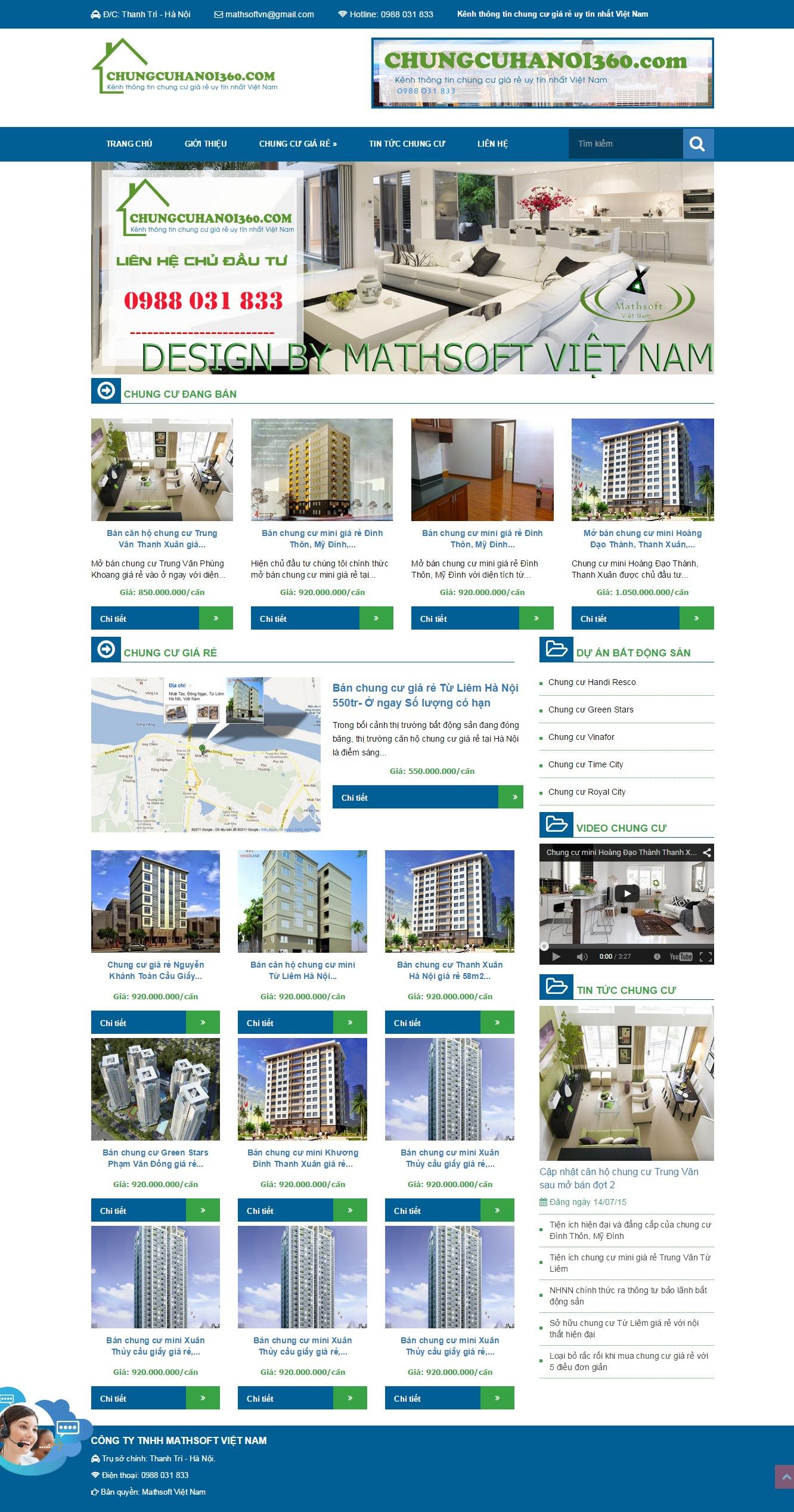 Mẫu Website Bất động sản #MS-BĐS001