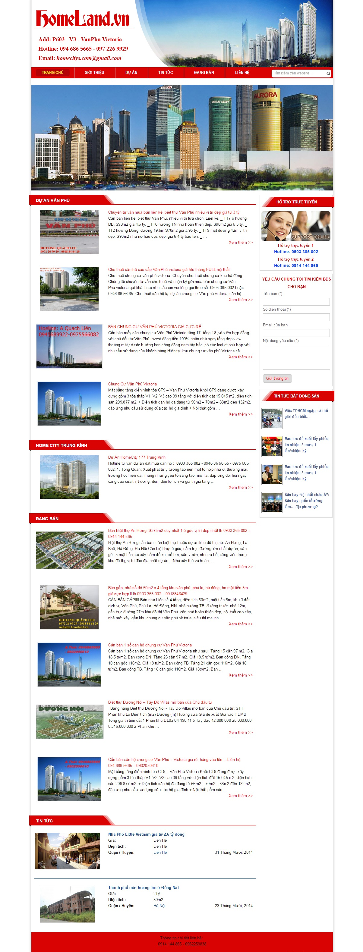 Mẫu Website Bất động sản #MS-BĐS007