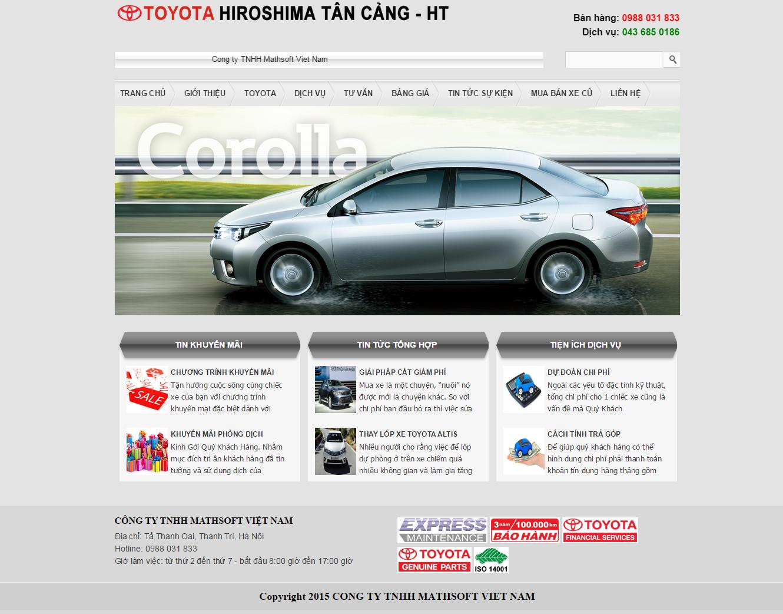 Mẫu Website giới thiệu ô tô #MS-OT001
