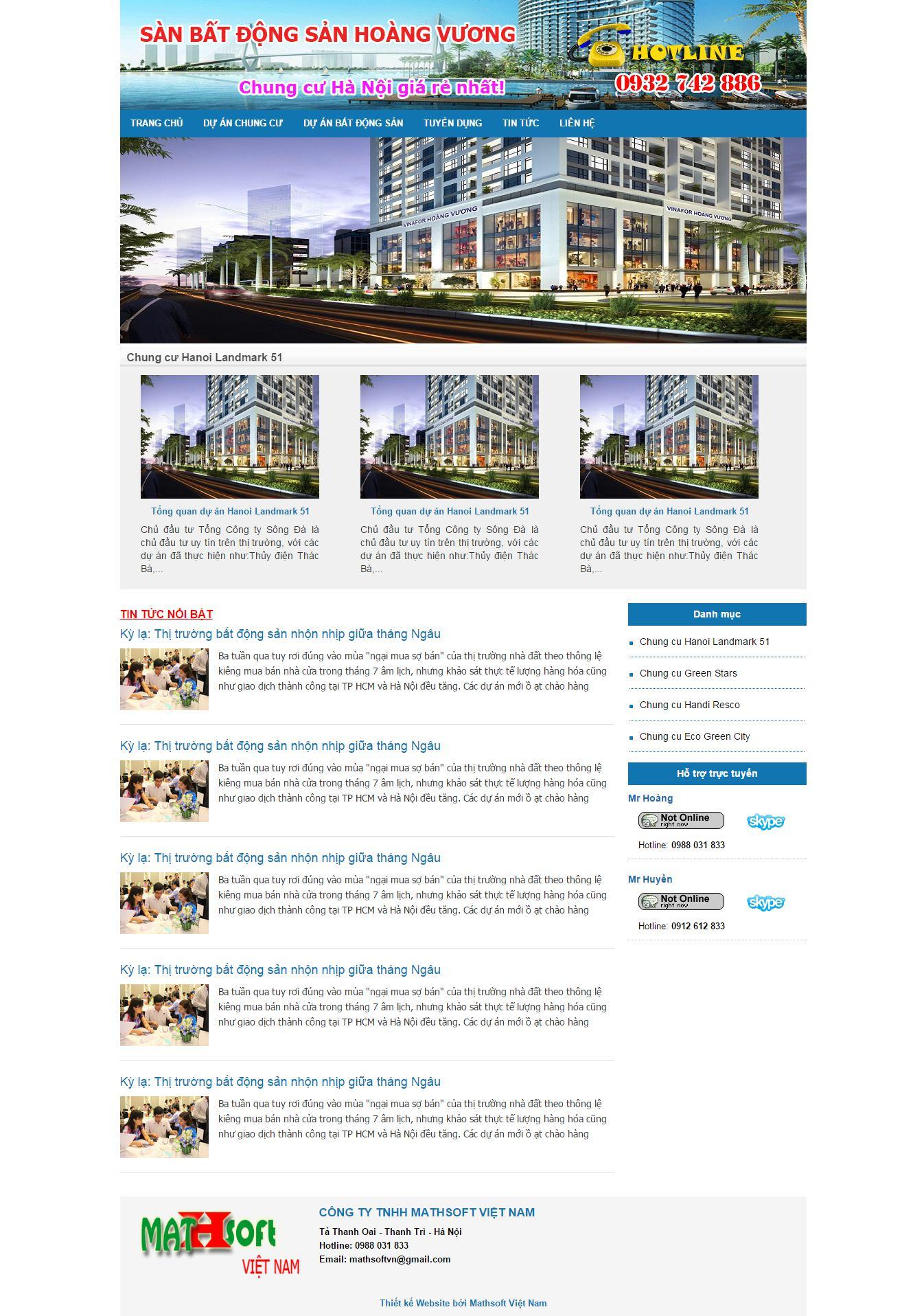 Mẫu Website Bất động sản #MS-BĐS011