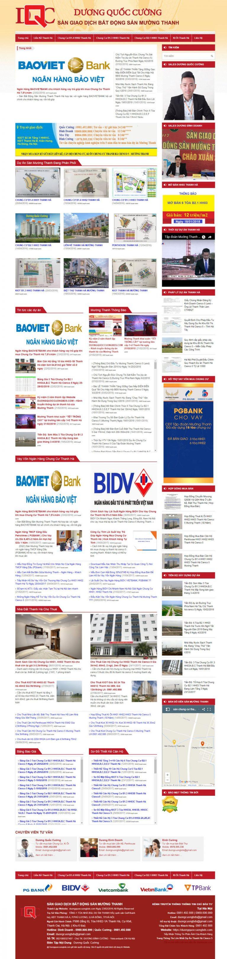 Mẫu thiết kế website bất động sản