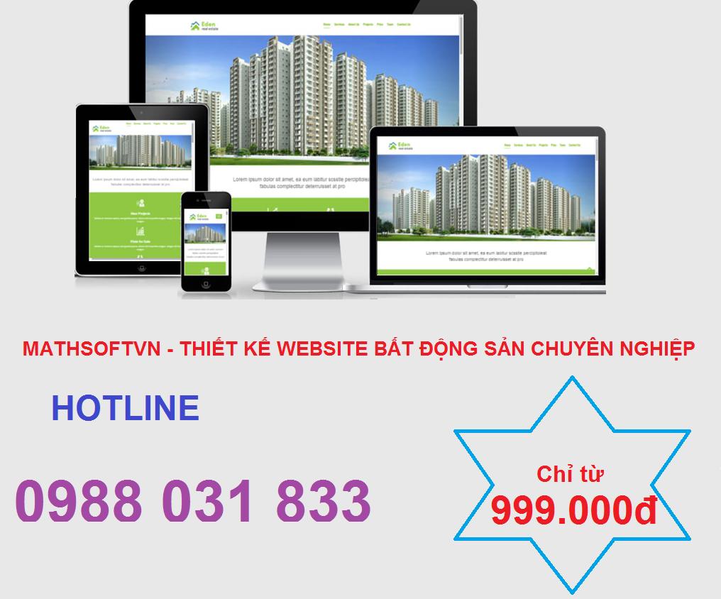 Thiết kế website bất động sản giá bao nhiêu?