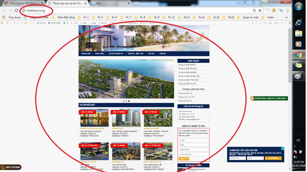 cách đăng ký thiết kế website bất động sản