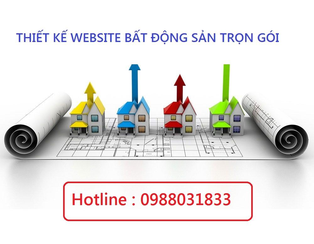 thiết kế website bất động sản chuyên nghiệp trọn gói